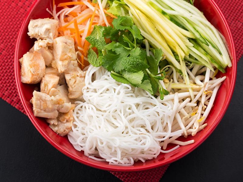 Asian Chicken + Papaya Salad