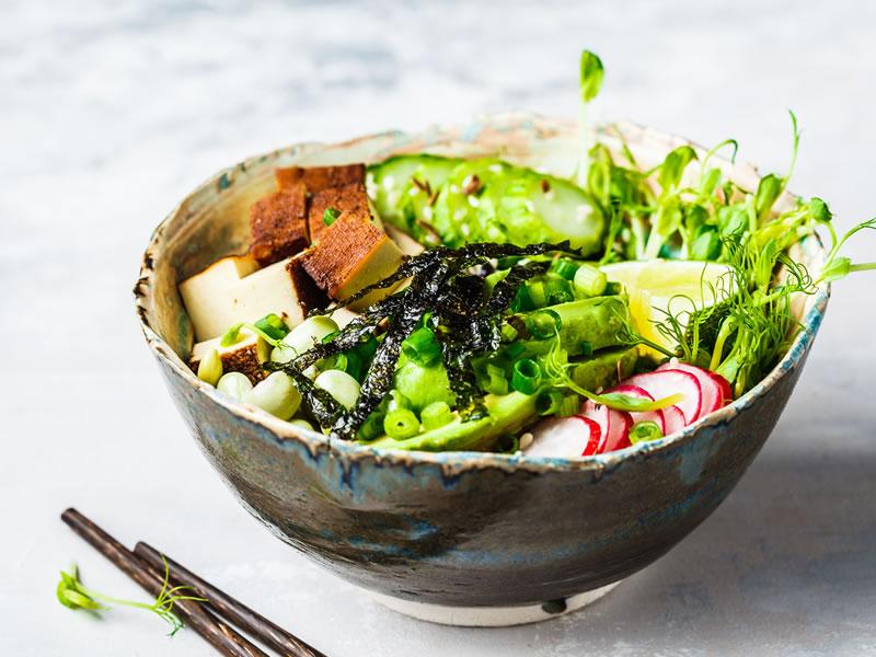 Black Rice + Tofu Salad