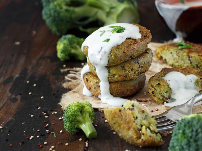 Quinoa + Squash Pattie, Stir Fried Cabbage, Sumac Yoghurt