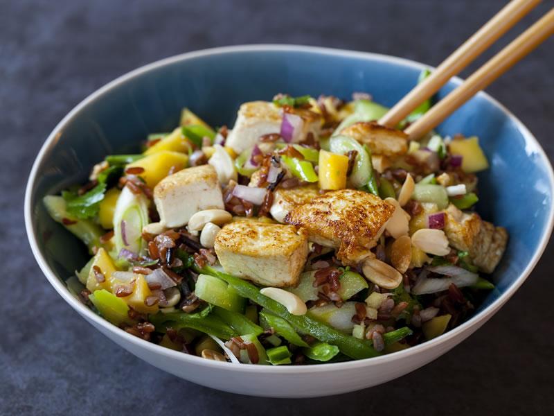 Chicken, Feta + Red Rice Salad