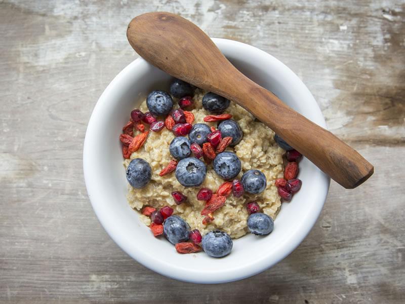 Goji Buckwheat Blueberry Bircher Bowl