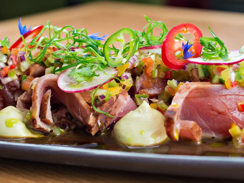 Grilled Tuna + Charred Corn Salad
