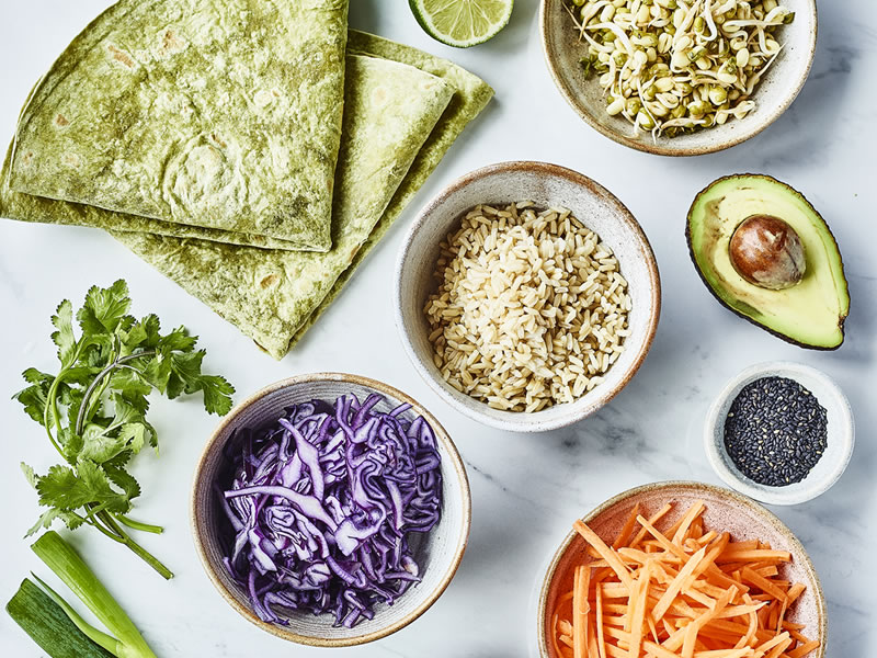Spicy Peanut + Brown Rice Wrap