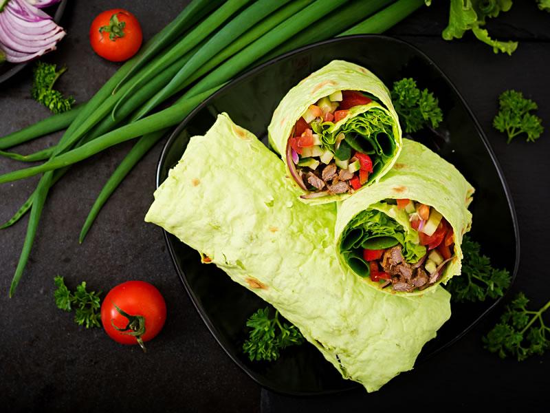 Pesto + Pickled Veggie Salad Wrap