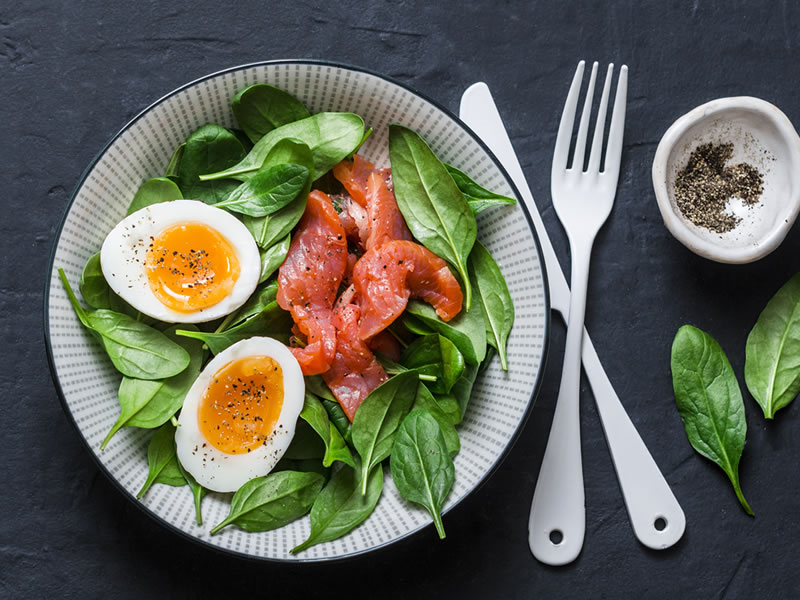 Salmon + Soft Egg Super Snack