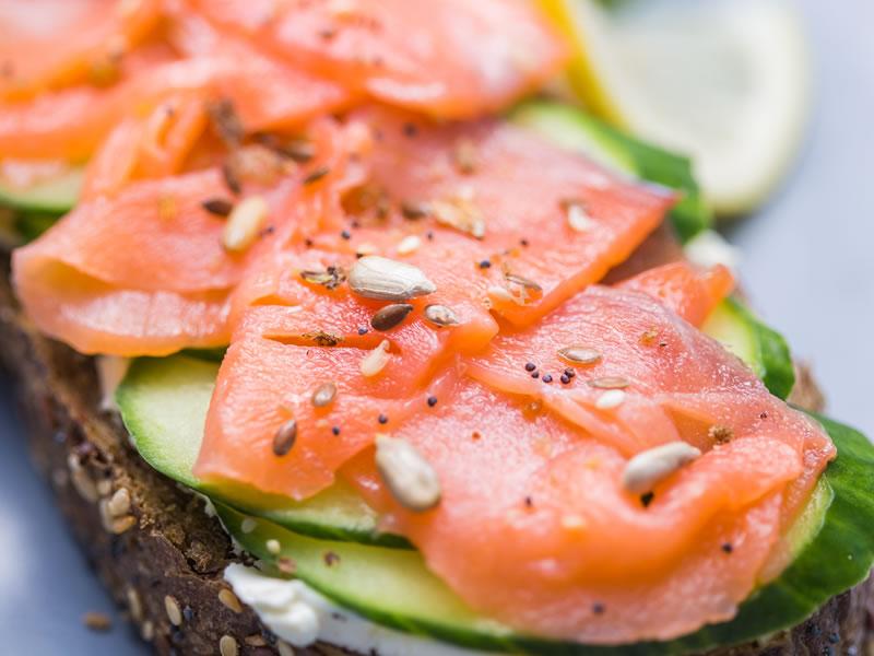 Salmon Cress + Raita on Granary