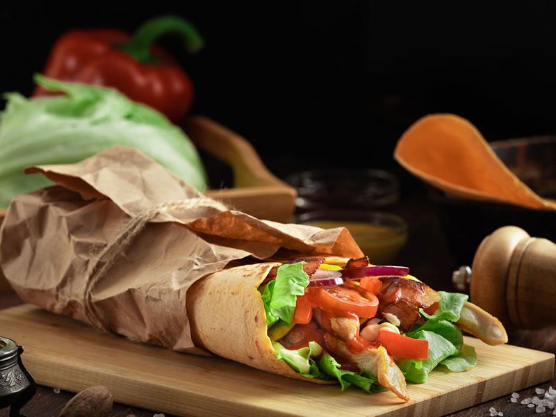The Squash + Pepper Chicken Wrap