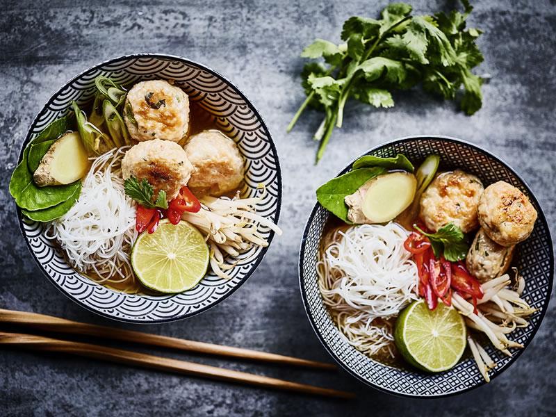 Vietnamese Chicken Bun Cha Pho